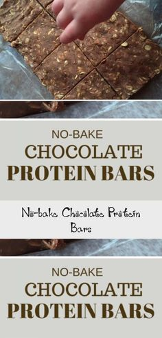 No-bake Chocolate Protein Bars - Thanksgiving Appetizers - #chocolateproteinpowder - No-bake Chocolate Protein Bars - Thanksgiving Appetizers...