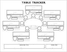 When I run convention #dnd, I jot down character details in an arrangement that roughly corresponds to where the players are sitting. I thought I'd make myself a sheet to make this easier!pic.twitter.com/N0G6sXQkqh