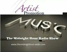 Artist/Author/Entertainer Promotions Package on The Midnight Hour Radio Show    -A radio commercial script     - A studio produced radio commercial    -One month (4 weeks)of commercials played on The Midnight Hour Radio Show two to three times weekly (10:00pm to 11:30pm EST) to more than 48,958,513 plus people in 47 plus countries.   -A radio Interview on The Midnight Hour Radio Show broadcasting from (10:00pm to 11:30pm EST) every Saturday on-air on News Talk 1490 AM WERE Radio One…