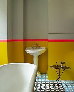 Bathroom in Manish Arora's Parisian home.