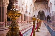 inside King Hassan II mosque - Casablanca, Morocco