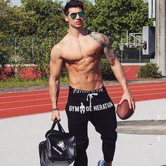 Long pants Cotton Men's Sporting workout fitness Pants casual Fashion sweatpants jogger – Gym Life Sweatpants Style, Mens Sweatpants, Fashion Sweatpants, Cotton Sweatpants, Gym Generation, Herren Winter, Tracksuit Bottoms, Shirtless Men, Muscle Men