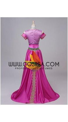 70c85b2daad Princess Jasmine Pink Satin Live Action Movie Cosplay Costume. Set  IncludesTop ...