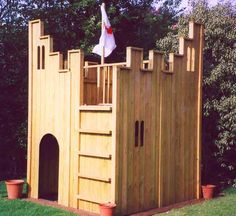The All Out Play Fort Wooden Playhouse is a great way to get your children active, and what better way than to get them playing in the security of your garden. The Fort Wooden Playhouse has many access points giving your child plenty of choice. Kids Wooden Playhouse, Wooden Fort, Castle Playhouse, Kids Indoor Playhouse, Wooden Castle, Childrens Playhouse, Build A Playhouse, Outdoor Playhouses, Garden Playhouse