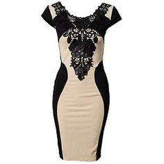 Dress Evening Cocktail Party Lace Fashion Short Sleeve S M L XL