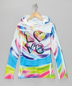 Take a look at this White & Teal 'Love' Hoodie - Toddler & Girls by Happy Kids for Kids on #zulily today!