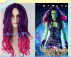 Guardians of the Galaxy Gamora Ombre Cosplay Wig by uFashionWigs, $32.00