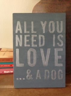 handpainted sign on wood  all you need is love... by LizandViolet, $21.00