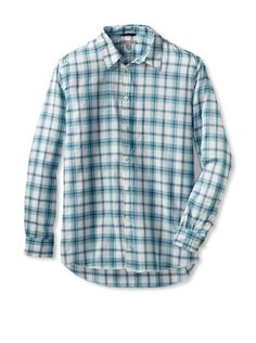 Martin Gordon Men's Button-Up Shirt (Aqua) #Shirt #Men #ShirtsSweaters