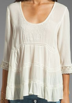 FREE PEOPLE Novella Top in Ivory - Tops