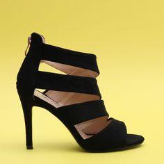 Sandale cu toc Carmona negru Kitten Heels, Casual, Shoes, Fashion, Moda, Zapatos, Shoes Outlet, Fashion Styles, Shoe