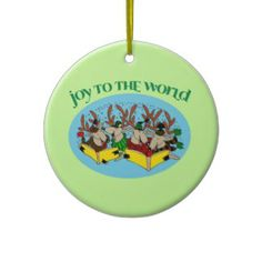 Carolers Reindeer Christmas Tree Ornament