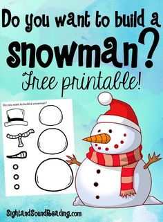 Preschool or Kindergarten Activity:  Do you want to build a snowman? -Free Activity for Kids