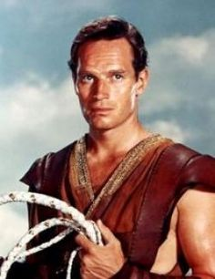 Charlton Heston, a very handsome actor from old Hollywood! ;-)