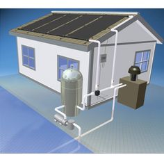 This *inground pool* solar pool heating system takes advantage of over 90% of the available energy from the sun.