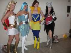 She Ra Costume | She-ra gang from left: She-ra, Frosta, Castaspella, and Catra at ...