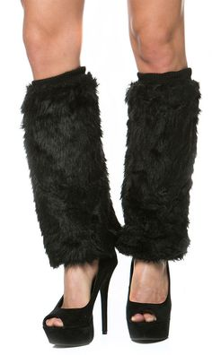 Faux Fur Leg Warmers in Black. The winter season is all about working your fashionable winter accessories to your outfit. Get these Faux Fur Leg Warmers and stay fashionable and warm all season long.