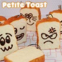 Kawaii Squishy Petite Toast Phone Charm