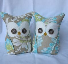 2 Owl Bookends, Doorstops, Paperweights Amy Butler fabric, just love her designs!!! Etsy: $48.00