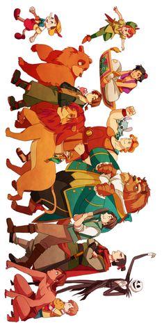 Illustration of Disney heroes. Walt Disney, Disney Pixar, Disney Boys, Disney Fan Art, Cute Disney, Disney And Dreamworks, Disney Cartoons, Disney Magic, Disney Movies