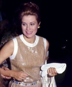 Princess Grace coming out of a party in Beverly Hills, 1978. Photo by Tony Rizzo.