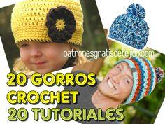 Tutoriales paso a paso para aprender a tejer gorros crochet