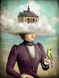 """Castle in the Clouds"" by Christian Schloe - Ilustração."