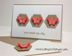 Nice CAS design  Stampin' Up!
