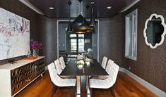 20 Gorgeous Black and White Dining Room Design Ideas Black And White Dining Room, White Dining Set, Small Dining, Luxury Dining Room, Dining Room Design, Dining Room Furniture, Dining Rooms, Elegant Dining, Living Room Sets