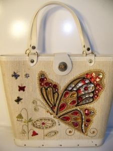 Butterfly,vintage handbag, 1960's by Enid Collins, Texas