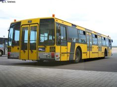 Apron bus at Ferihegy Airport Budapest, Hungary. Ex. Copenhagen Airport, Kastrup. Owned by the since
