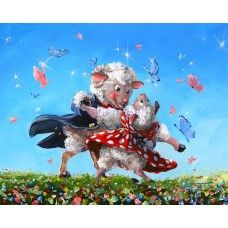 Another Dance With Ewe - Sheep Art