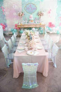 party invites 12 Awesome Head Table Ideas For Your Wedding Party Mermaid Theme Birthday, Little Mermaid Birthday, Little Mermaid Parties, Mermaid Baby Showers, Baby Mermaid, 1st Birthday Parties, Birthday Party Decorations, Mermaid Table Decorations, Wedding Parties