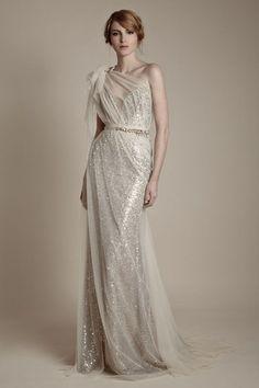 Superior sparkling wedding gown inspiration | 25 Dazzling Art Deco Wedding Gowns