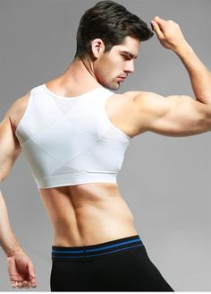 Gynecomastia Slimming Chest Control Shapewear   #Slimming #new #shapewear #Tshirt #sexy #waisttrainer #SANU #garments #Shaping #sale
