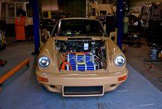 Electric Porsche 911, Electric Car, Salvador Dali Museum, Automotive Art, Engine, Motor Engine