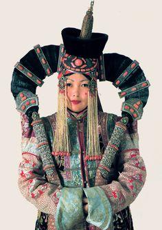 A Woman in a Khalkha Ethnic Costume - Mongolia #PhotojournalismMongolia #HimalayanPhotojournalism