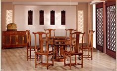 521622637579 Chinese rosewood furniture solid wood dining table 2