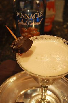 The perfect drink for the holidays, a Salted Caramel Martini drink recipe.