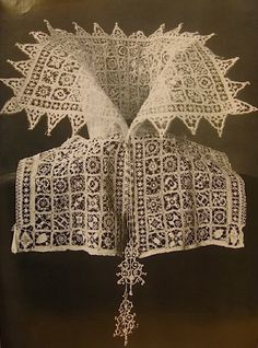 This piece is so intricate but must have cost a lot to make as I imagine lace was very expensive to get hold of.
