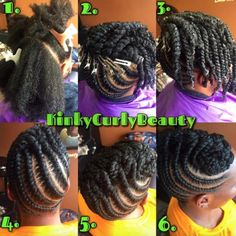 Protective Style via @KinkyCurlyBeauty - http://community.blackhairinformation.com/hairstyle-gallery/natural-hairstyles/protective-style-via-kinkycurlybeauty/