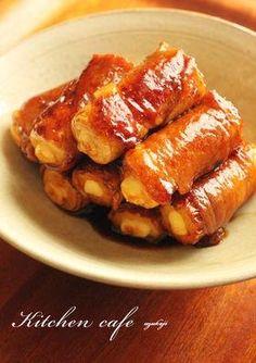 「チーズちくわの肉巻き」こいうのお弁当に入ってたら、喜ばれるはず♪【楽天レシピ】