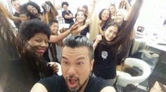 So wonderful to been a part of Linh Nguyen hair team for project runway Allstars season 5!!! I feel the love!!