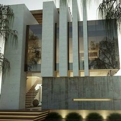 Valle imperial House in Jalisco, Mexico by Creato Arquitectos Facade Architecture, Beautiful Architecture, Residential Architecture, Contemporary Architecture, Contemporary Stairs, Contemporary Design, Contemporary Apartment, Business Architecture, Contemporary Cottage
