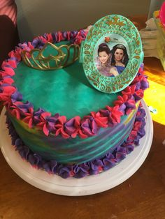 Descendants Cake W Watercolor Design