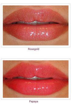 Revlon ColorBurst Lip Gloss in Rosegold and Papaya