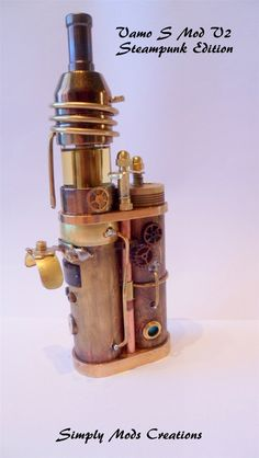 Vamo S Mod V2 Steampunk Edition via http://simply-mod-creations.be Please follow our boards for the Best in Vaping. Please journey to our websitore @ http://www.bluecigsupply.com