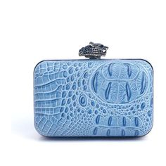 House of Harlow 1960 Marley Clutch in Sky Croco found on Polyvore...love this color!