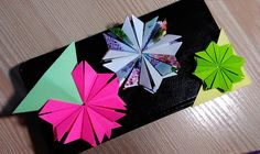 3 ideas for easy origami bookmarks.