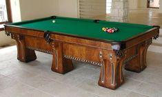 The Hudson, restored antique billiards table from Brunswick-Balke-Collender Co.